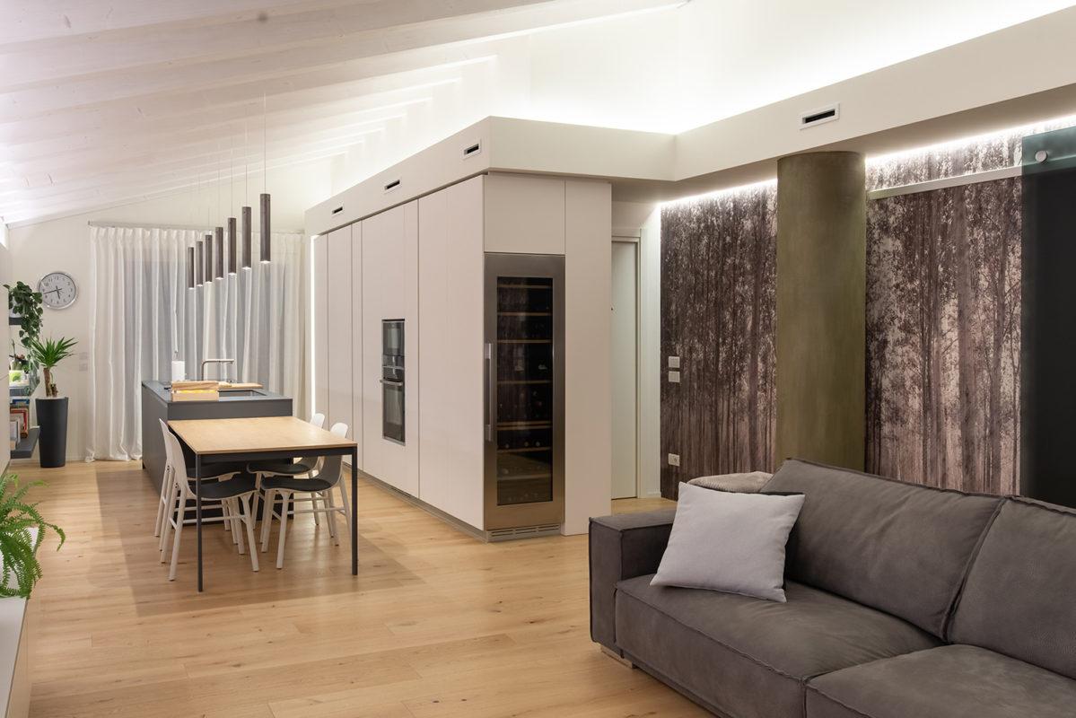 Foto interno abitazione arredo moderno