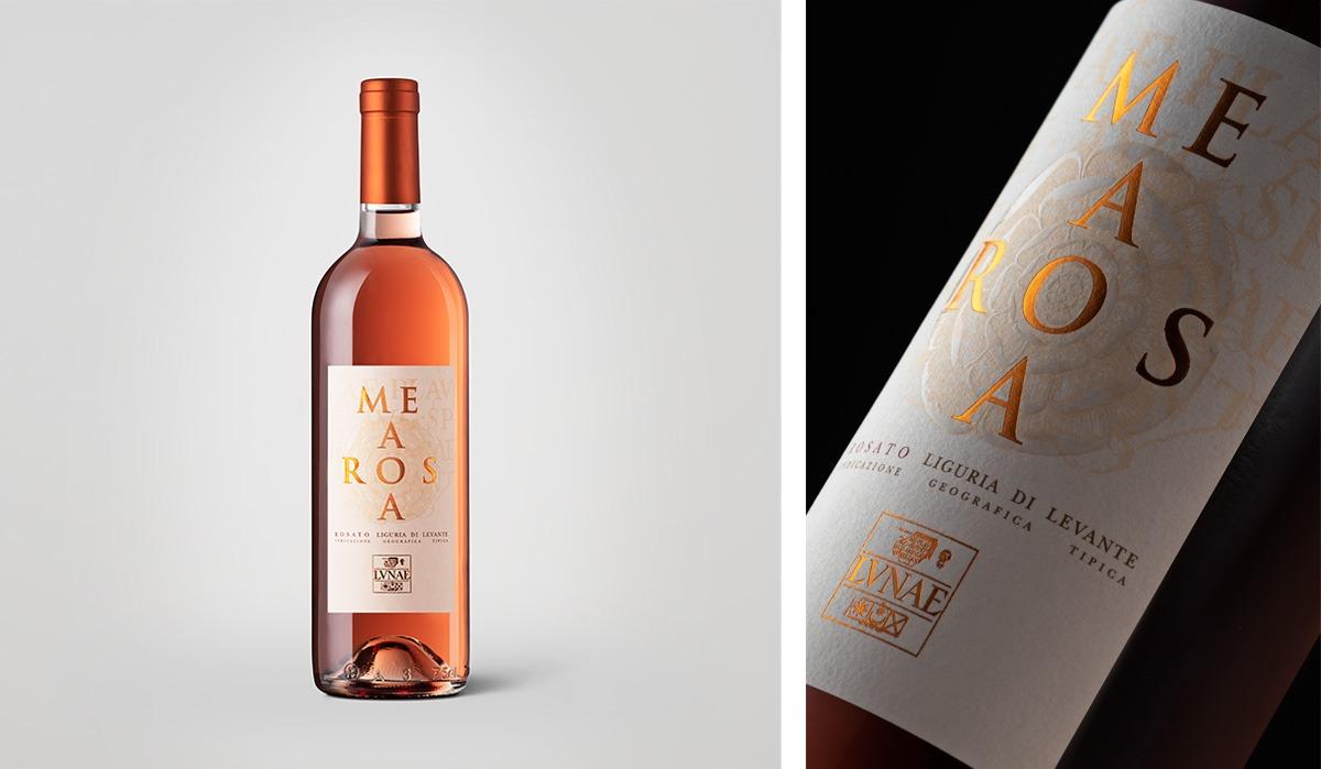 Foto bottiglia di vino rosè Mea Rosa