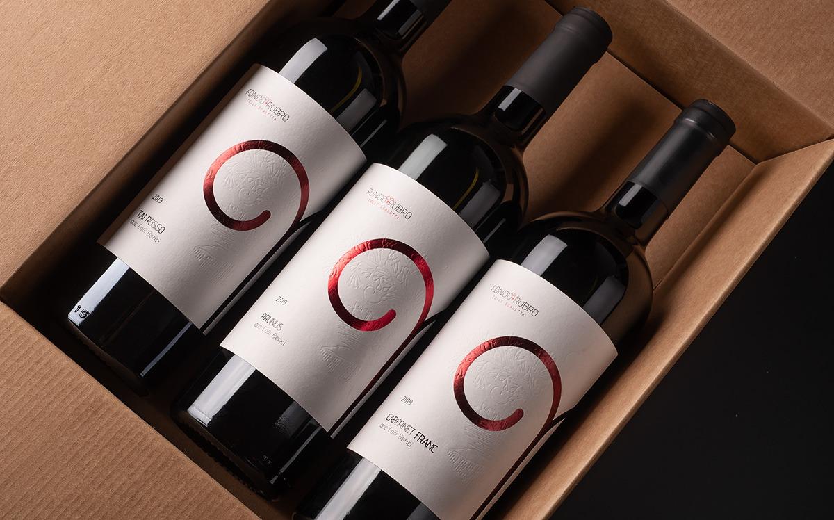 Box bottiglie di vino Fondo Rubro