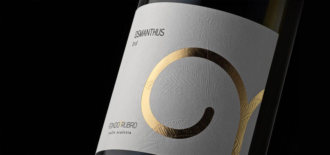 Foto etichetta bottiglia di vino Osmanthus