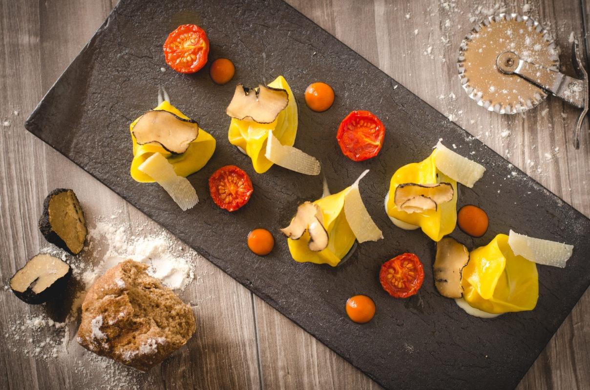 Foto food di un piatto di pasta