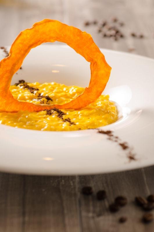 Foto di un piatto di risotto