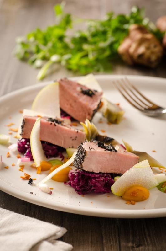 Foto still life food di un piatto