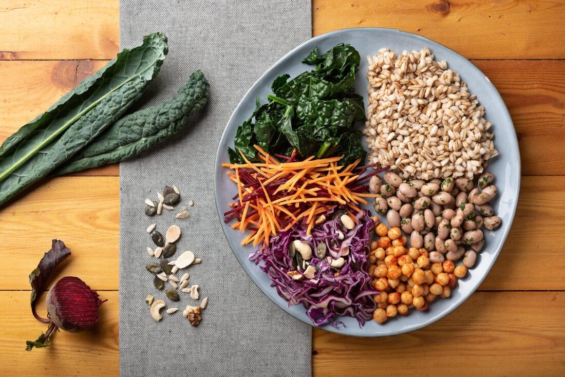 Food photography, foto di un piatto smart per una rubrica di ricette